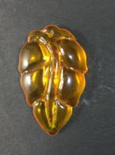 An Amber Leaf Figure
