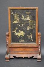 A Chinese Wooden Table Screen