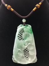 A Burma Jade Necklace Pedant.