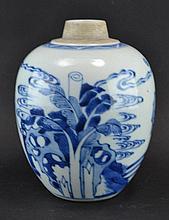 A blue and white jar, Kangxi style