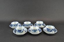 Kangxi cup and saucers