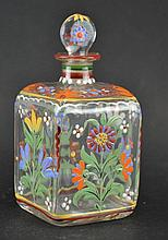 Bohemian square glass bottle