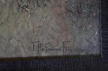 Franz Hoffmann-Fallersleben (1855-1927) Litho