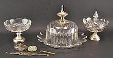 A collection of crystal items, 19th century