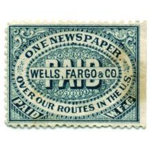 Wells Fargo & Co Newspaper Stamp 1883