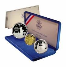 Statue of Liberty Coin Set 1986 3 Coins Commem.