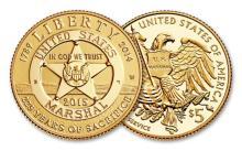 2015 Five Dollar Gold U.S. Marshals Commemorativef
