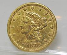 1878 $ 2.5 Gold Liberty