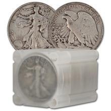 90% Silver Walking Liberty Half Dollars - $10 Face