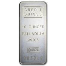 10 oz Palladium Bar - Credit Suisse