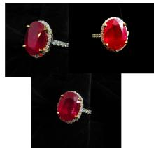 8.16 ct. Center Stone RUBY / Diamond Ring
