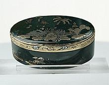 An 18th century Dresden vari-coloured Gold and hardstone box c1750