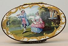 A Bilston enamel snuff box. English c1770