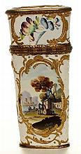 A bilston enamel etui. English c1790