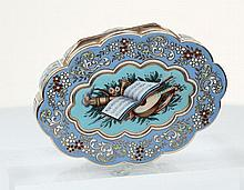 A Gold & enamel Turkish market snuff box. Swiss c1800
