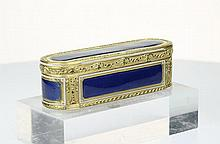 A Gold and enamel snuff box, Swiss c1780