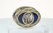 A late 18th century German gold & enamel snuff box