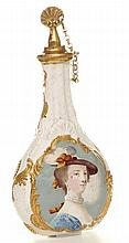 A Bilston enamel scent flask,. English c1770