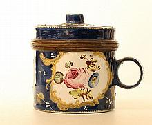 A Bilston enamel wax-jack. English 1780