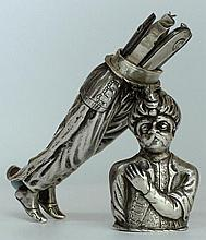 A Rare silver etui. late 18th century. Unmarked
