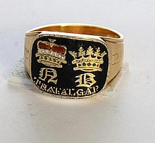 A Gold Mourning ring,After Nelson, English 1805