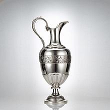 Large Tiffany Neoclassical Silver Ewer C 1885