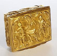 A George III Gold patch box. English c1761