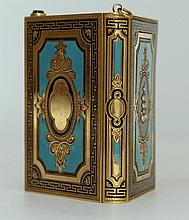 A Gold & enamel Aide de Memoire, French c1850