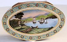 Gold & Enamel Snuff Box By Louis Gapolin