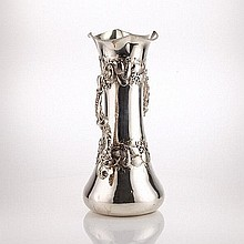 American silver two handled vase,By Schiebler
