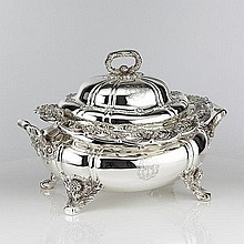 Tiffany Soup Tureen Chrysanthemum Pattern