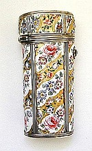 Rare French 18th Century Silver and Enamel Etui
