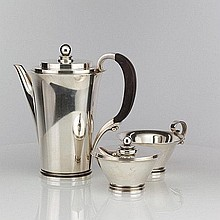 Georg Jensen Pyramid Sterling Silver coffee Set
