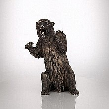 Italian Silver Model of a Bear, Signed Buccellati