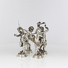 Four Silver Figures of Bacchus