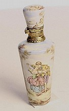 Silver and Enamel Perfume Bottle