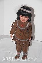 Porcelain Indian Doll 16