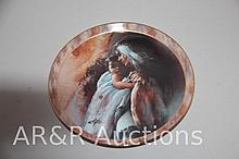 Plate - Indian Lady with Baby - Tender Moment - Bradex - 1996