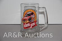 Slim Jim Racing Team #44 David Green Glass Mug Stein Advertising 1995