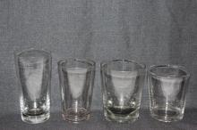 Four Various Victorian Tumblers,