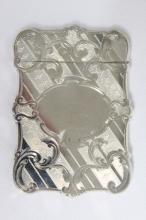 American Sterling Silver Card Case, c.1875