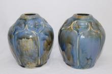 Pair of Royal Doulton Lambeth Art Nouveau Vases,