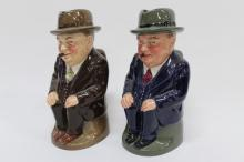 Two Royal Doulton 'Winston Churchill' Toby Jugs,