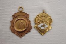 Two 9ct Gold Fob Medallions,