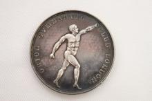 Victorian Silver Gymnastics Medal, c.1892,