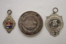 Silver Football Club Fob Medallion,