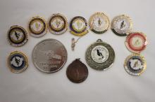 Twelve Various Sporting Medals,