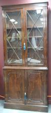 Fine George III Flamed Mahogany Bookcase,