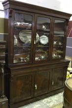 George IV Mahogany Three Door Bookcase,