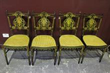 Fine Set of Four English Drawing Room Chairs,